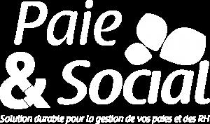 logo paie et social blanc