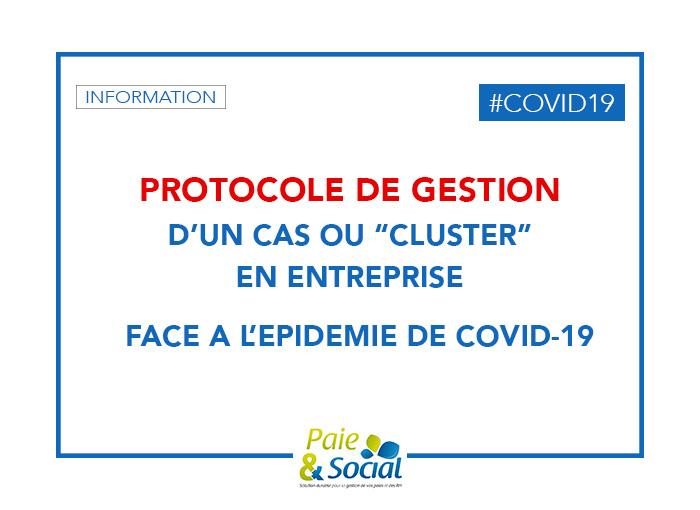 Protocole de Gestion d'un cas COVID 19 en Entreprise